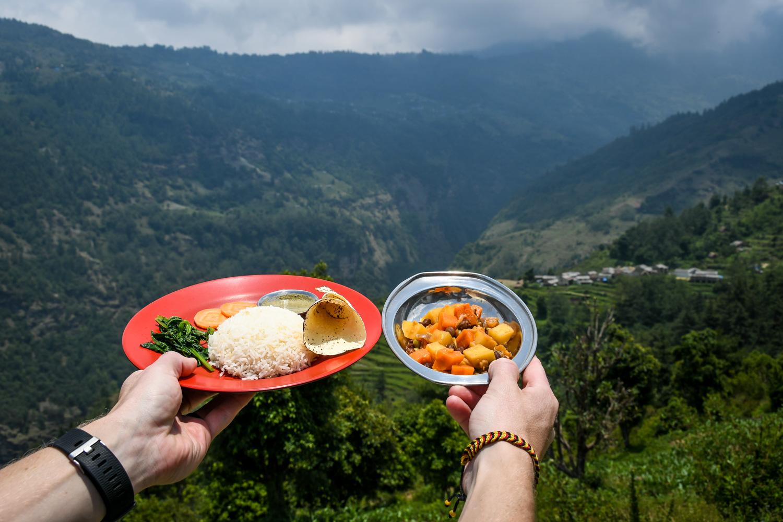 Mohare Danda Trek Food Dal Bhat