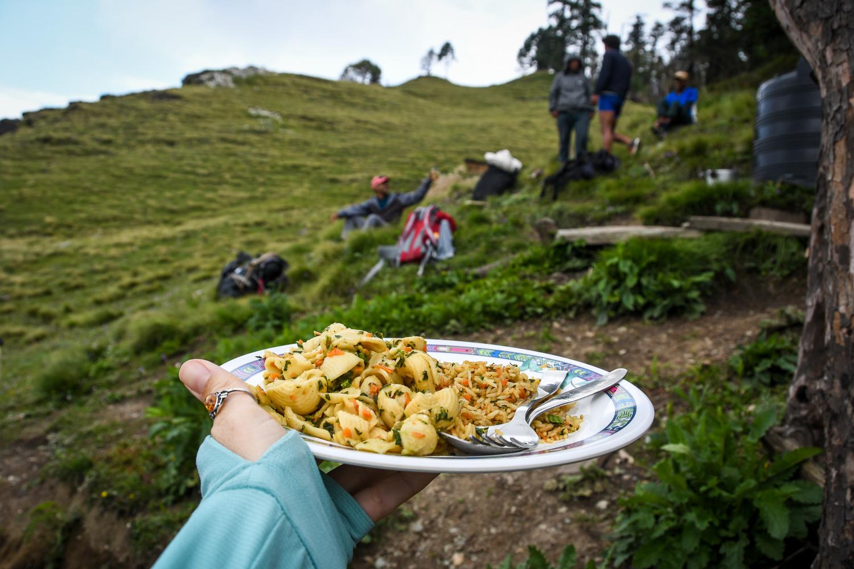 Mohare Danda Trek Food Pasta