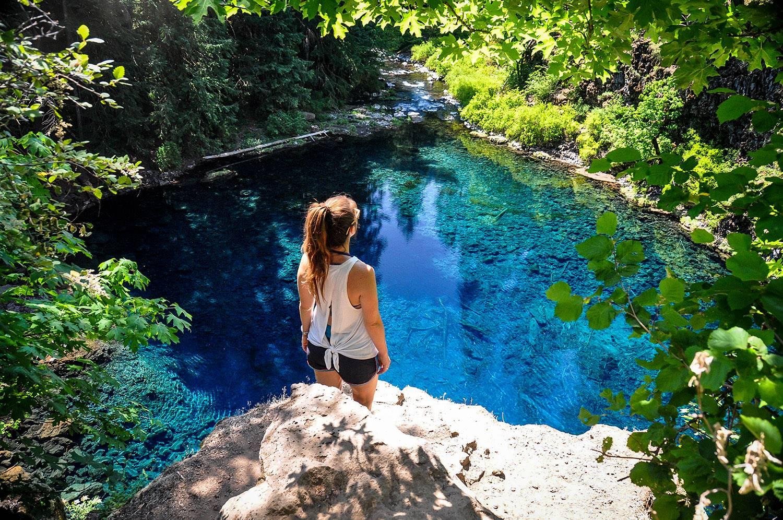 Road Trip USA Oregon Tamolitch Blue Pool