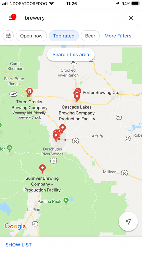 Road Trip Planner Google Maps Searching Brewery