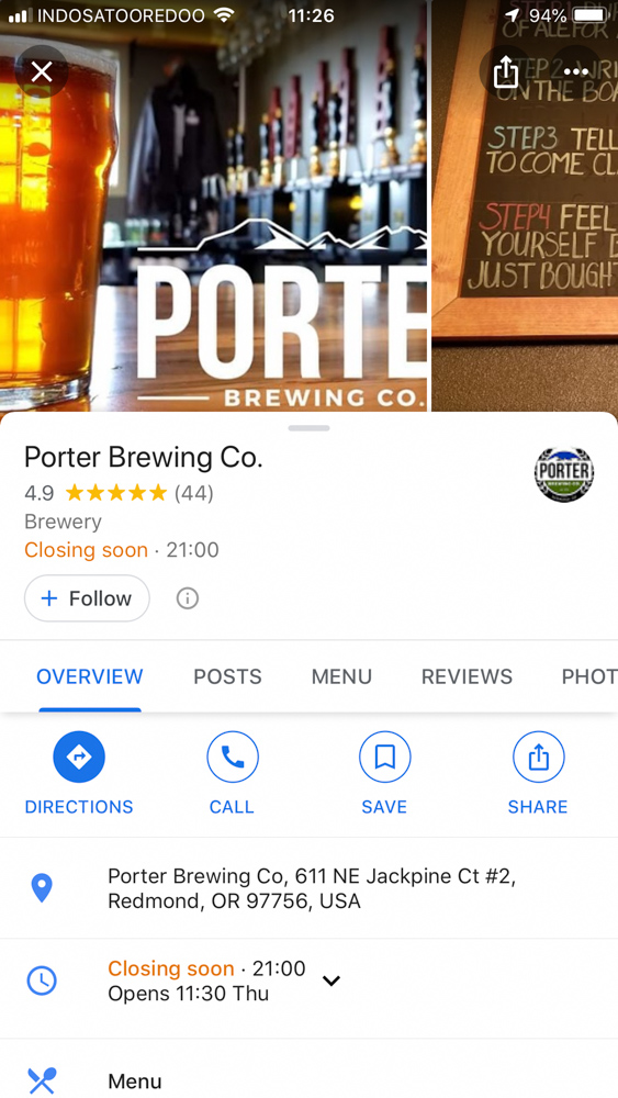 Road Trip Planner Google Maps Porter Brewery