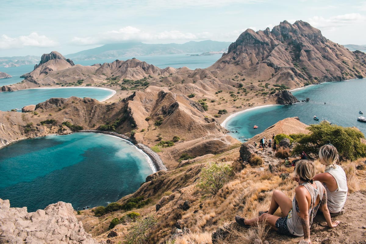 View Point on Padar Island in Flores, Indonesia