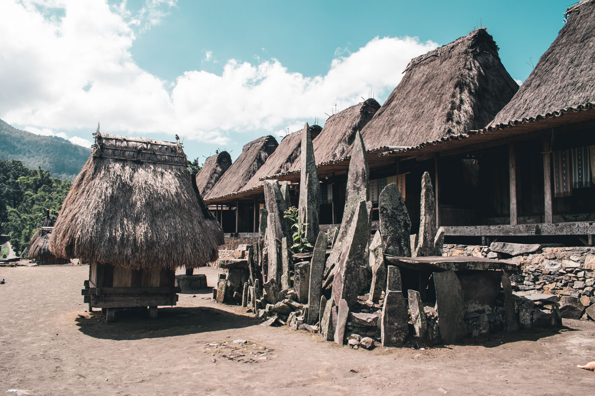 Traditional Ngada Village in Flores, Indonesia
