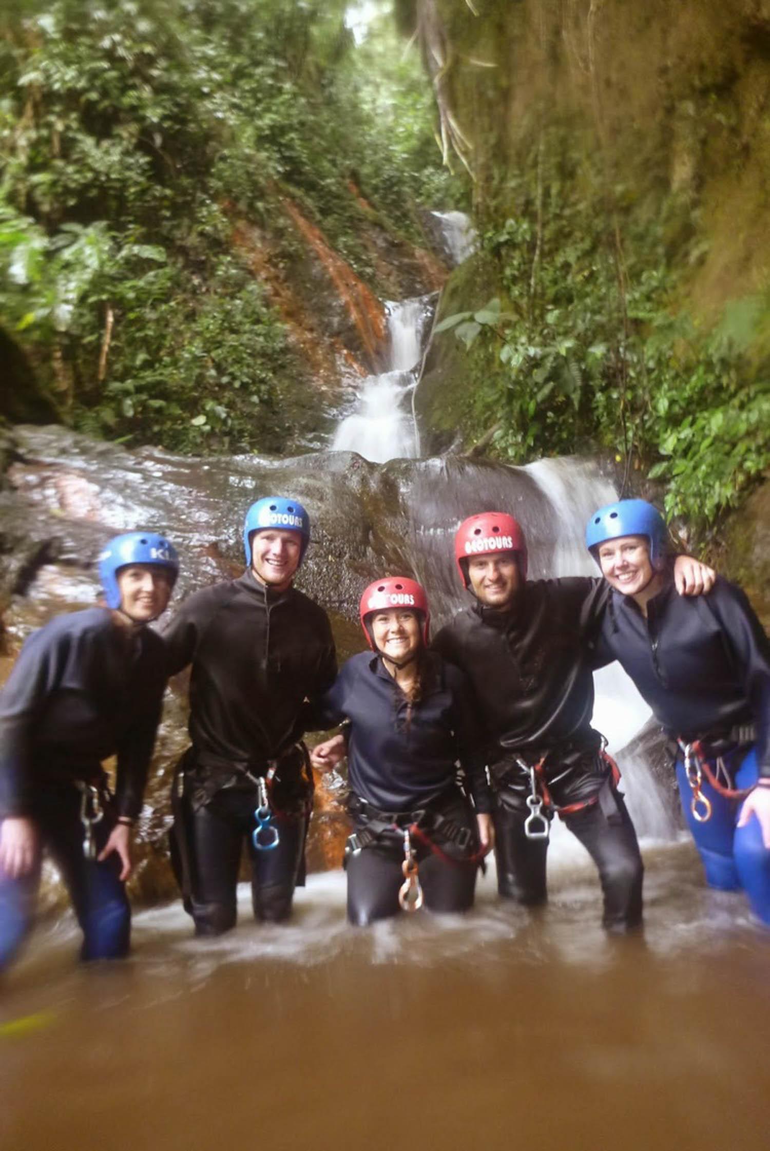 Canyoneering Banos Ecuador