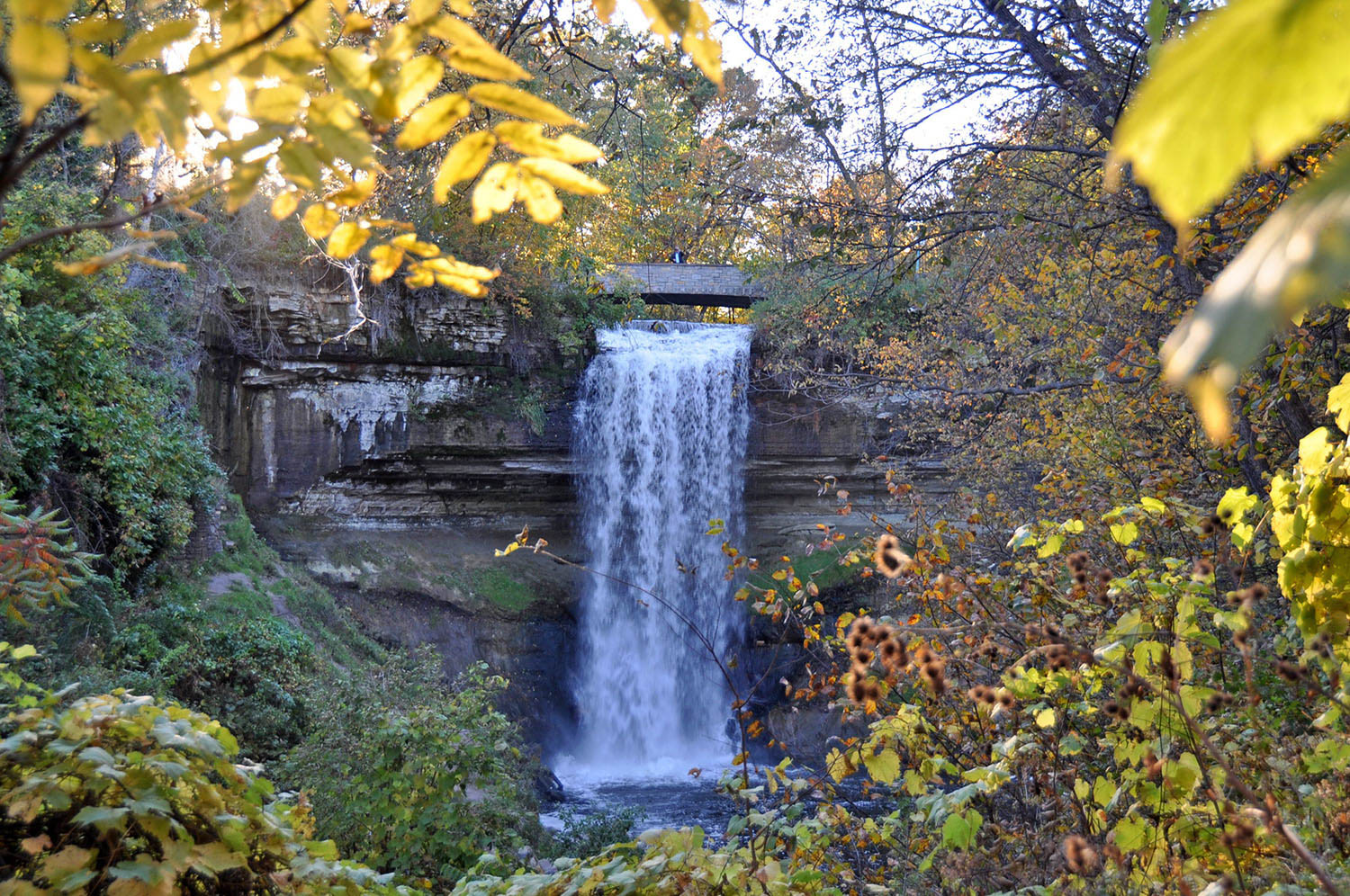 Minnehaha Falls in the Fall