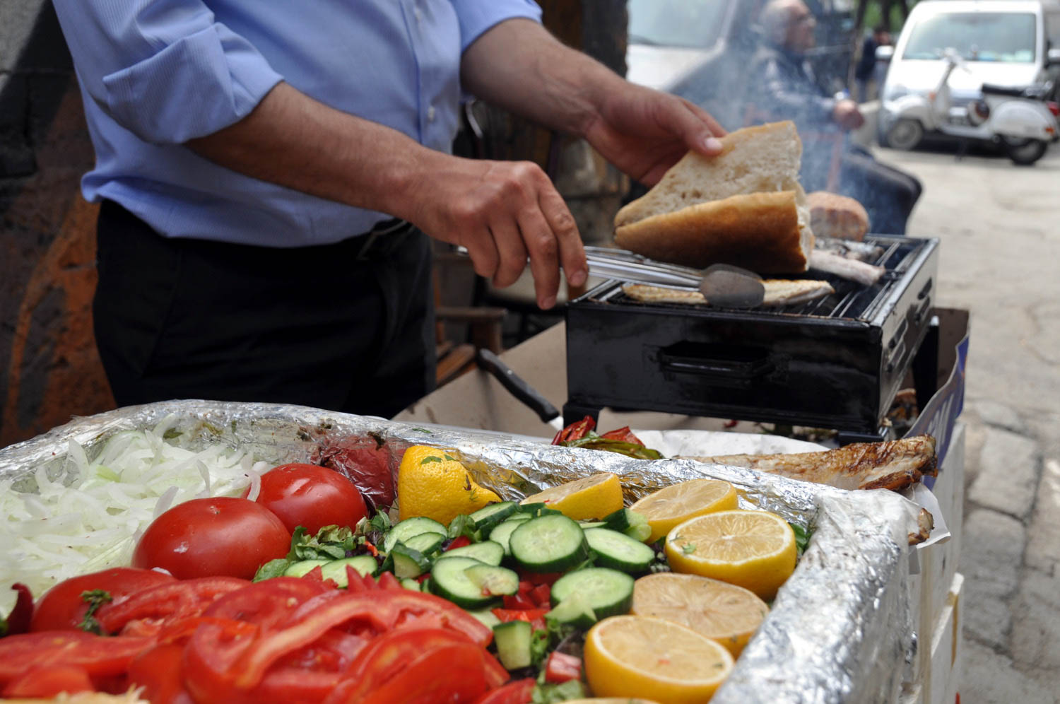 Fish Sandwich on the Bosphorus Things to Do in Istanbul
