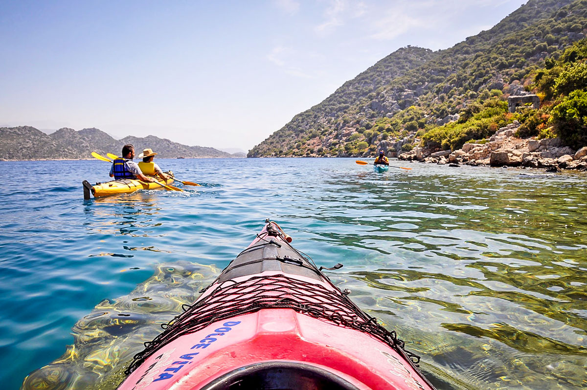 Kayak over Sunken Ruins Kekova Turkey Bucket List