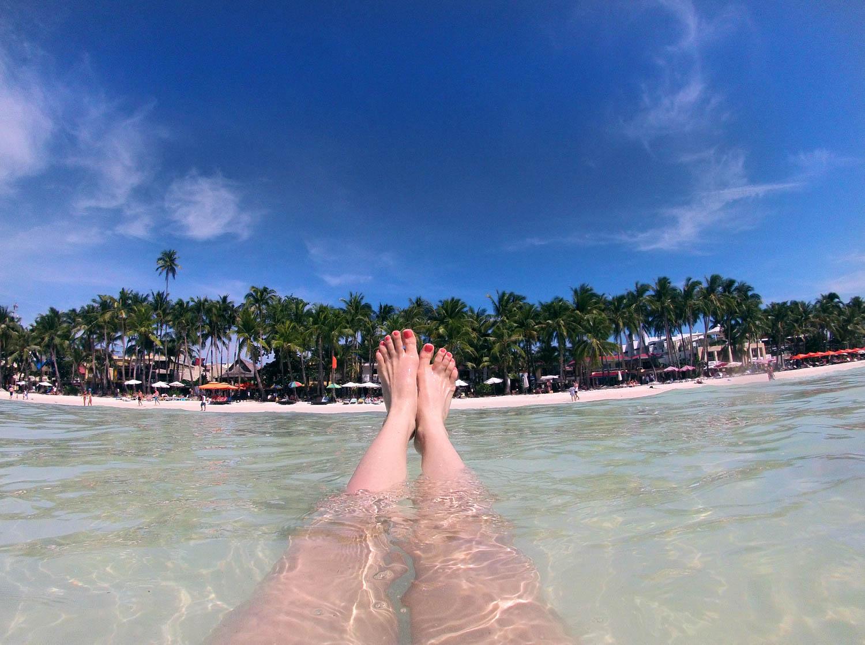 Boracay White Beach Feet