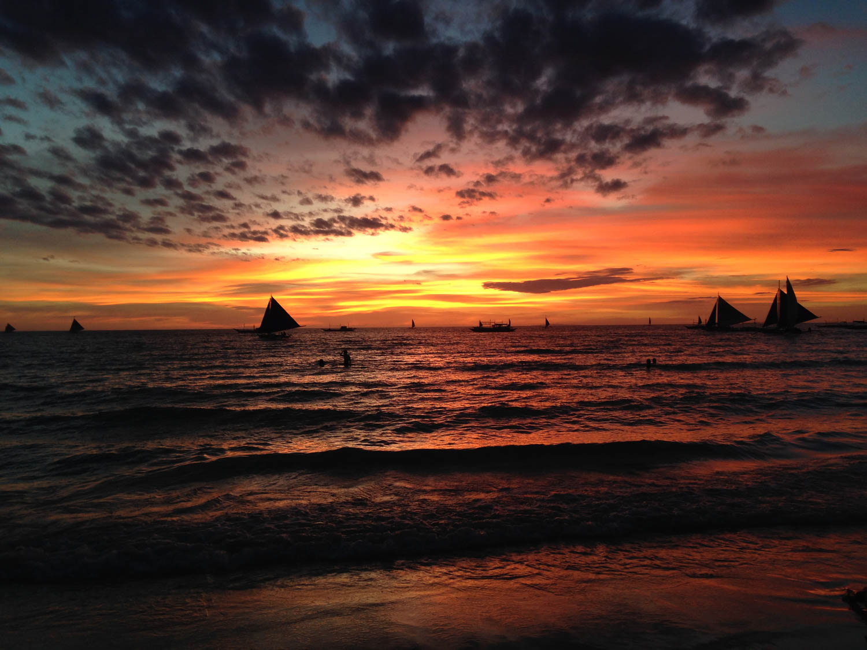 Boracay Sunset Sailboat