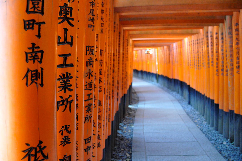Countries to Teach English Japan Orange Gates