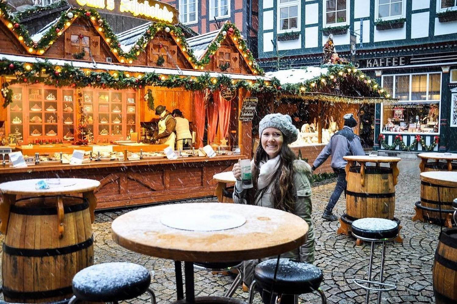 Sustainable Tourism in Germay Christmas Market Snowing