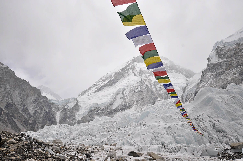 Everest Base Camp prayer flags