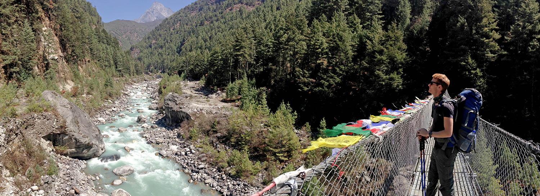 Suspension bridge panoramic