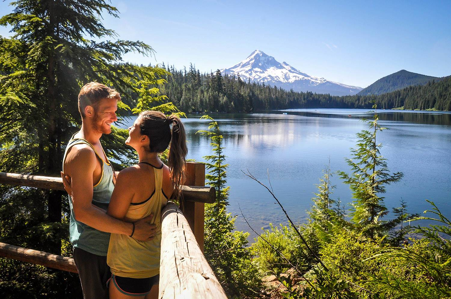 Lost Lake Viewpoint in Mount Hood National Forest, Oregon