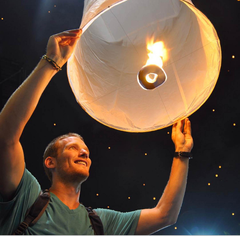 Yi Peng Wish Lantern Chiang Mai Thailand