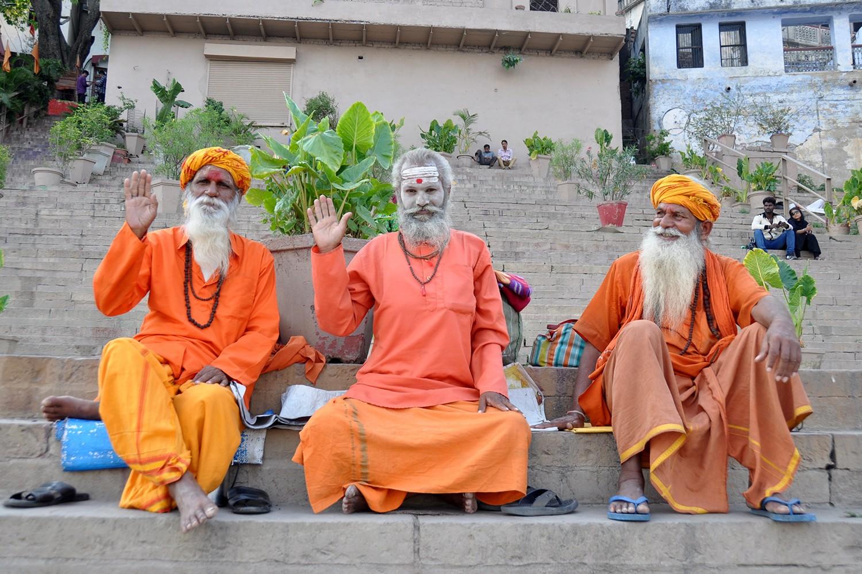 Holy Men in Varanasi India