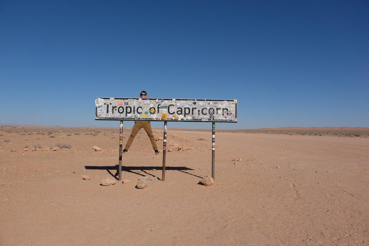 Things to Do in Namibia | Tropic of Capricorn Sign