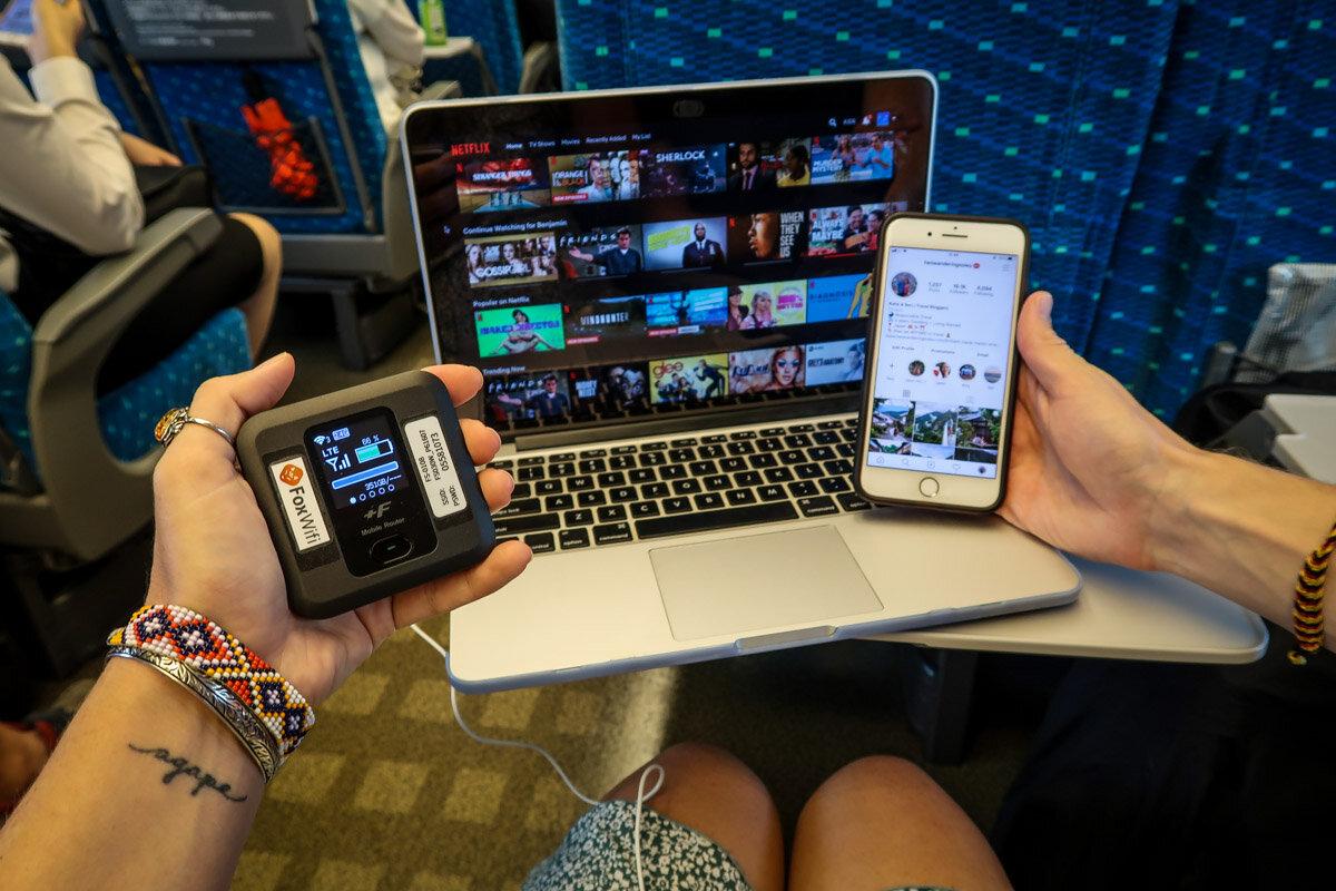 Japan Pocket Wifi vs Japanese SIM Card On a Train