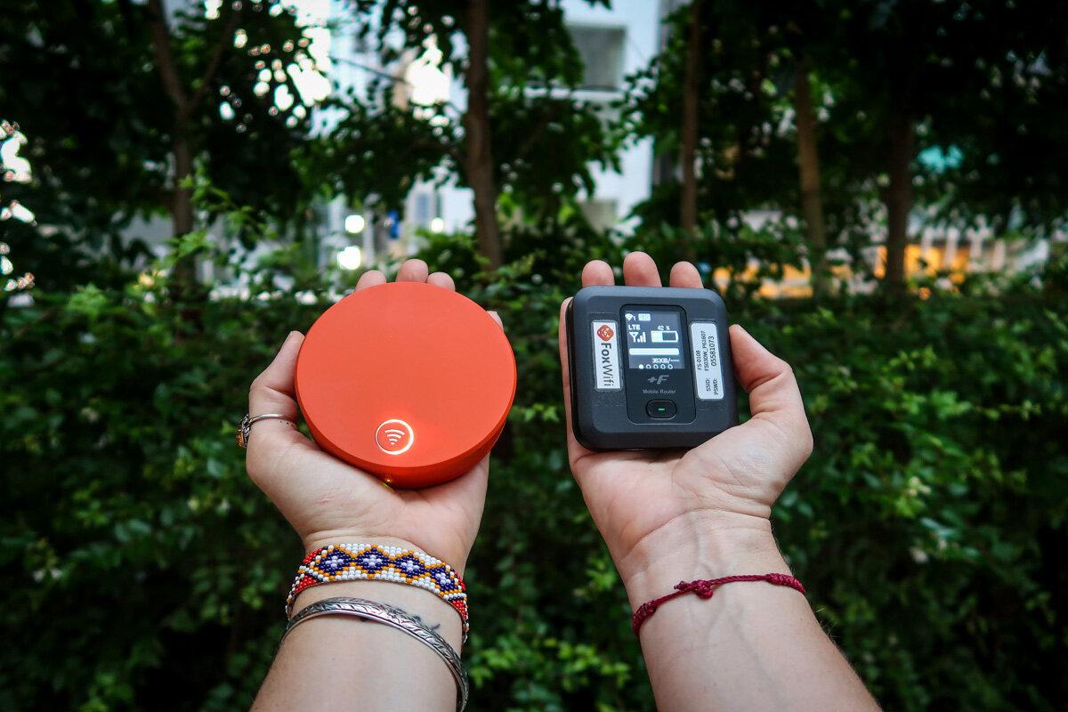 Japan Pocket Wifi Device FoxWifi vs SkyRoam Solis