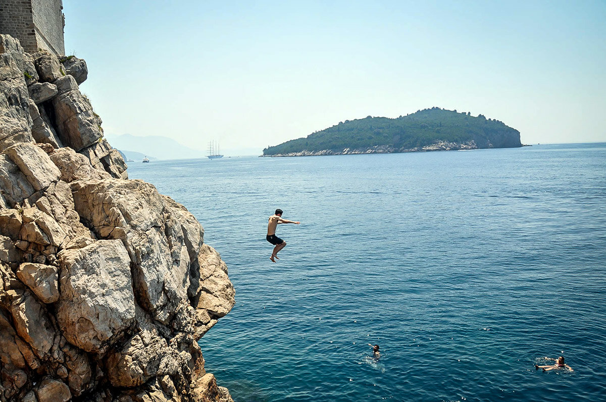 Things to Do in Dubrovnik | Cliff jumping at Buza Bar