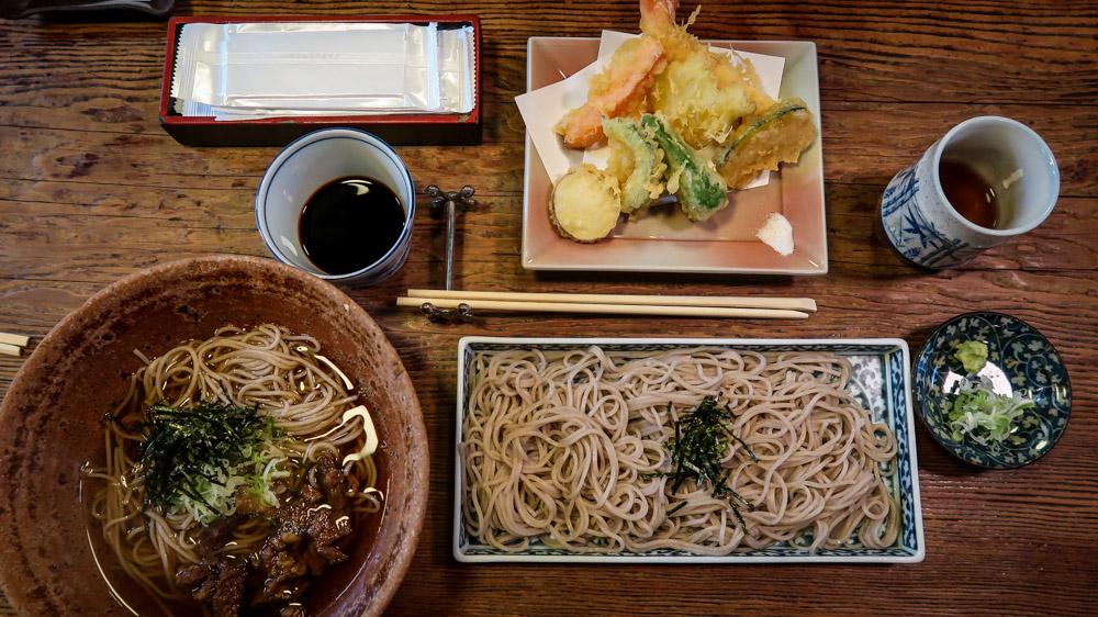 Japanese Food soba noodles