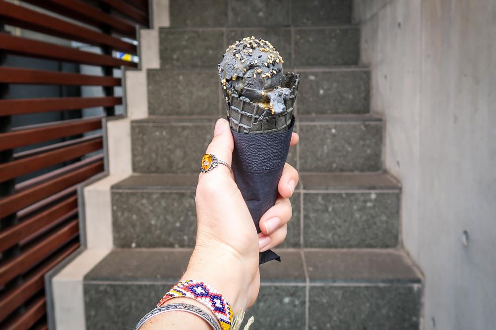 Japanese Food black sesame ice cream