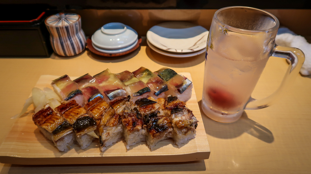 """The type of sushi in this picture is called oishizushi, or """"pressed sushi"""", and it is similar to the original way people preserved fish."""