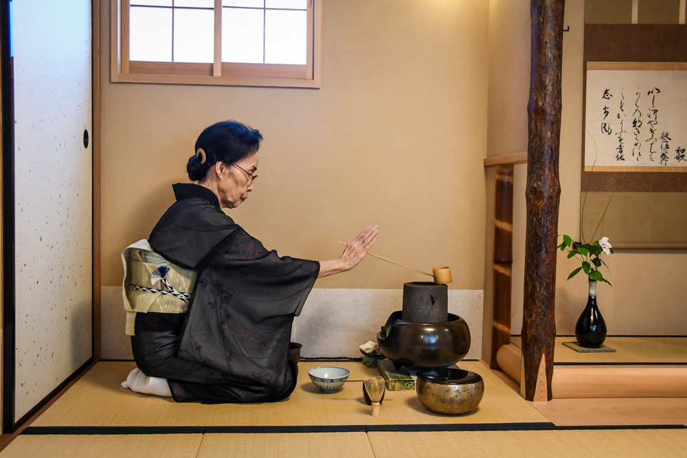 Observing a traditional matcha ceremony