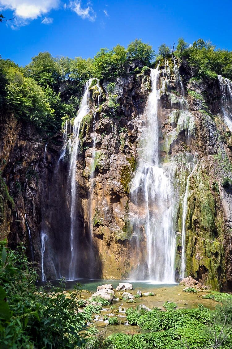 Great Waterfall Plitvice Lakes National Park Croatia Travel