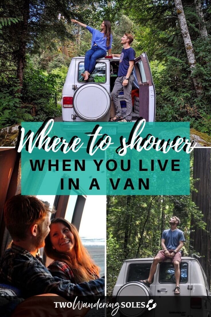 how to shower while living in a campervan