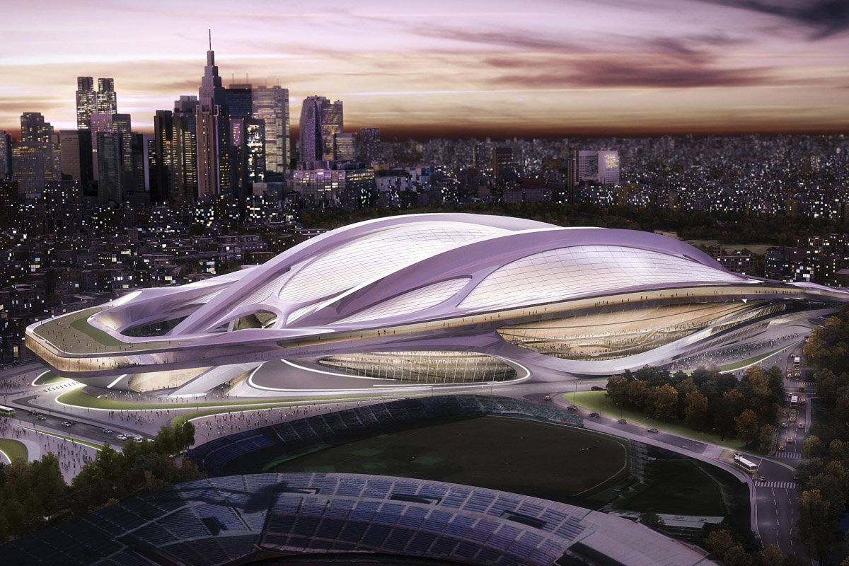 Tokyo's Olympic Stadium |  Image from the official 2020 Olympics website