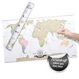 Unique Travel Gifts | Scratch Off World Map