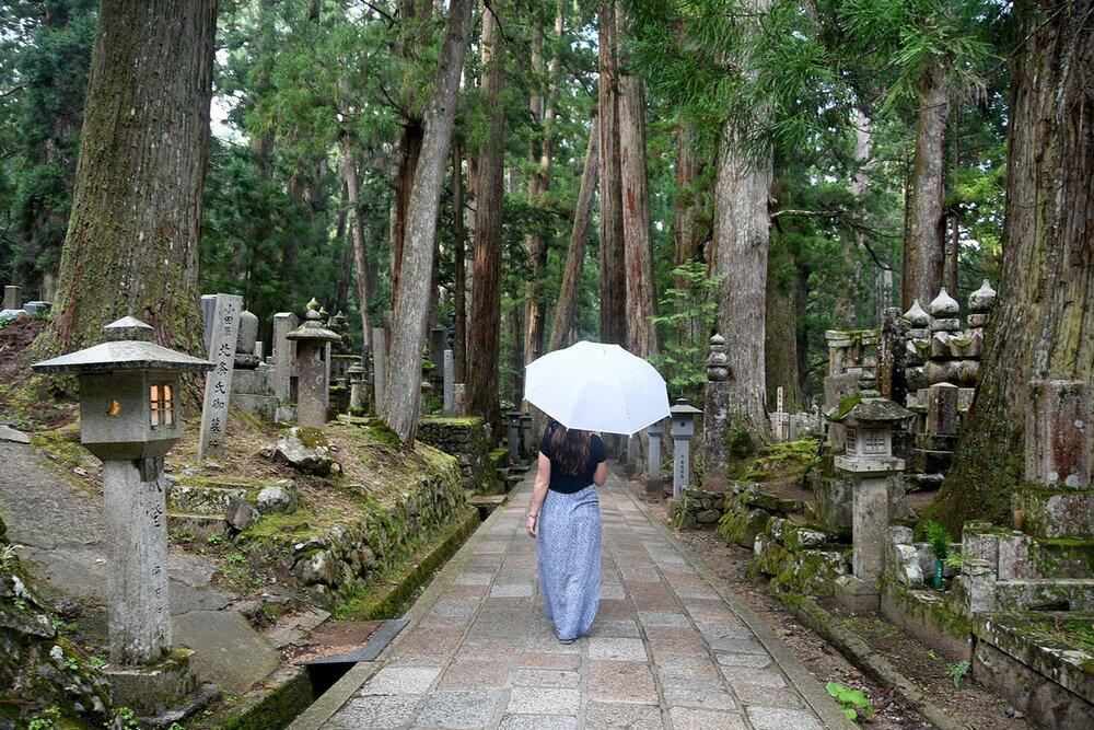 Japan Souvenirs Umbrella in a Buddhist Cemetery