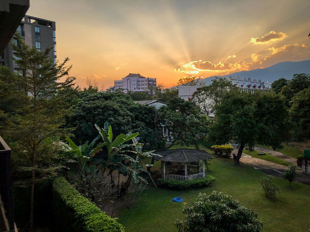Best Time to Visit Thailand | View from our apartment in Chiang Mai