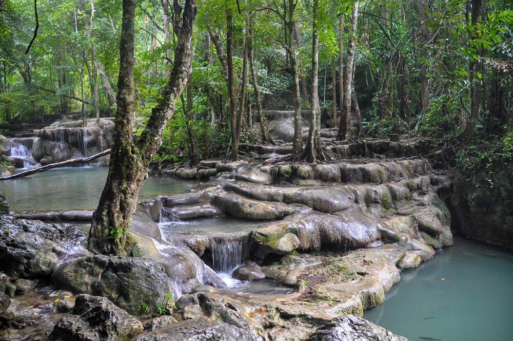 Best Time to Visit Thailand | Erawan Falls near Bangkok
