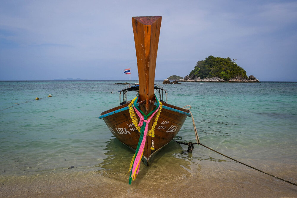 Best Time to Visit Thailand | Long tail boat in Koh Lipe