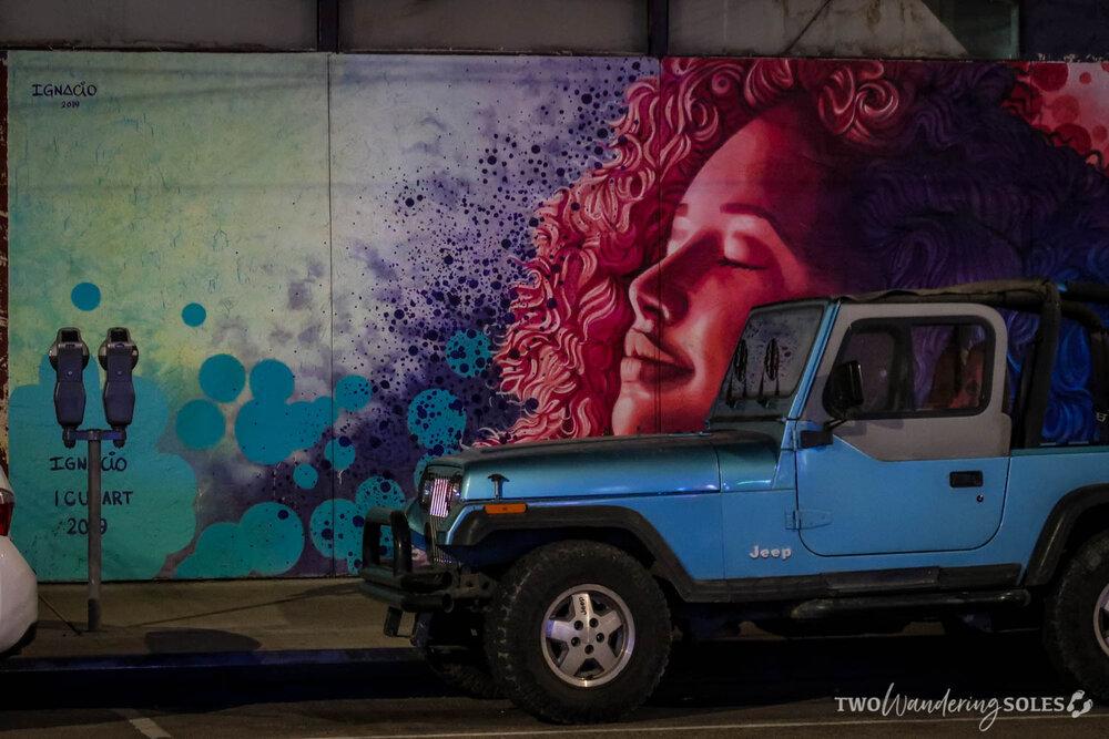 Girl on 4th Ave Tucson Street Art
