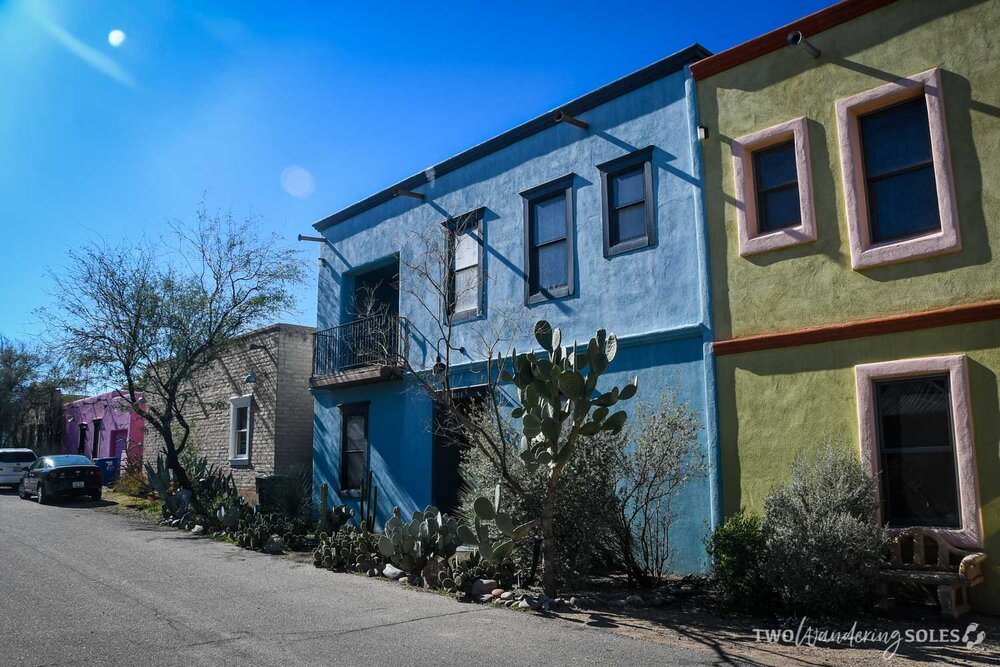 Things to do in Tucson Barrio Viejo Colorful Houses