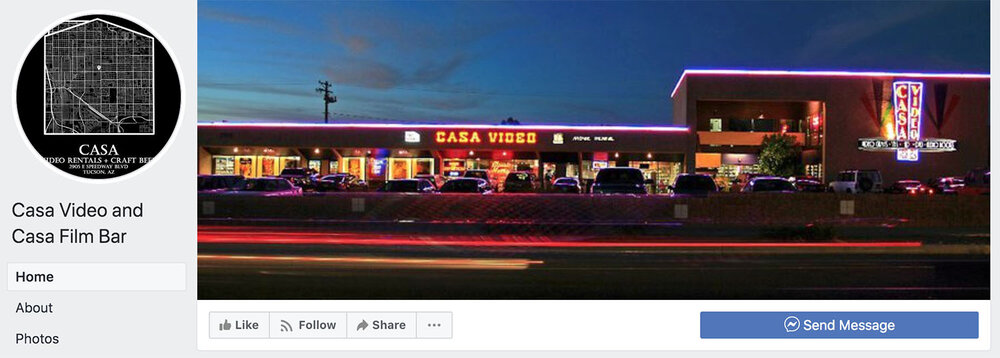 Check Casa Film Bar's Facebook Page for New Showings