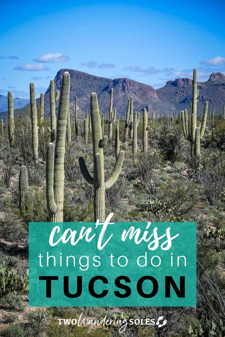 We had a jammed-packed weekend #sponsored by Visit Tucson, and this desert city has a lot going on! From a national park to museums to clubs to live music to ALL THE TACOS, we had a blast. Find out what not to miss on your next trip to Tucson, AZ!  #visittucson #tucson #arizona #saguaro #tacos #twowanderingsoles