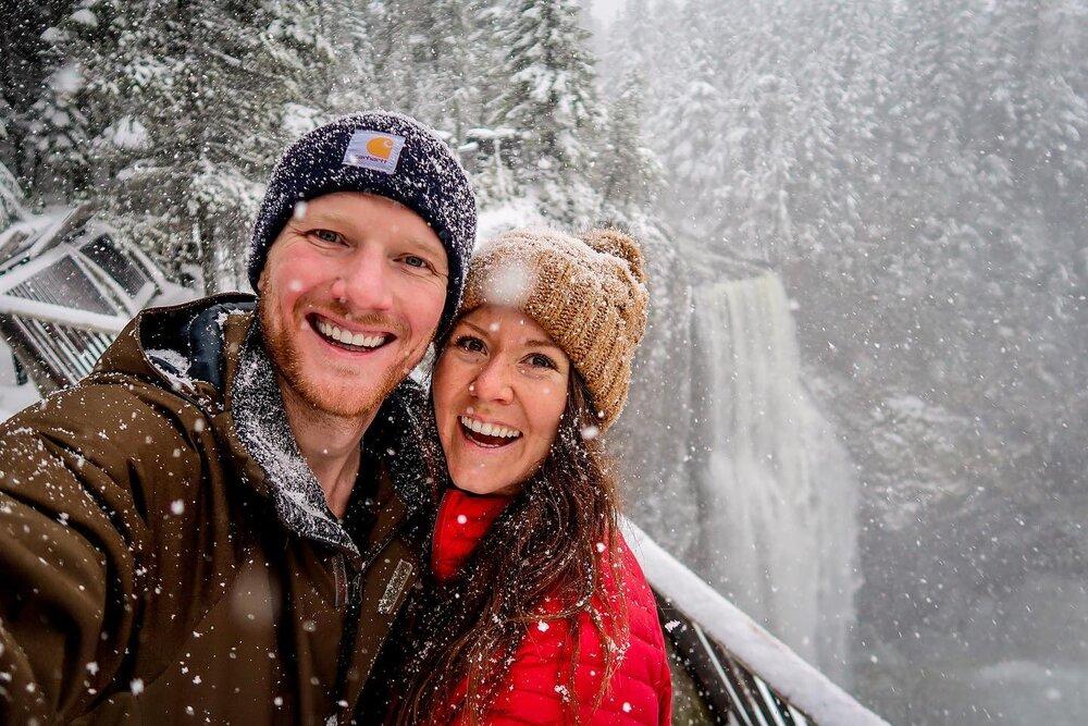 Salt Creek Falls Oregon Winter Snow Travel Blog Income Report