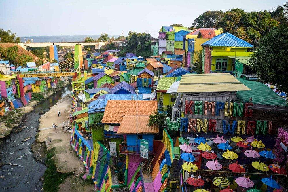 Things to do in Java Malang Rainbow Village Kampung Warna Warni