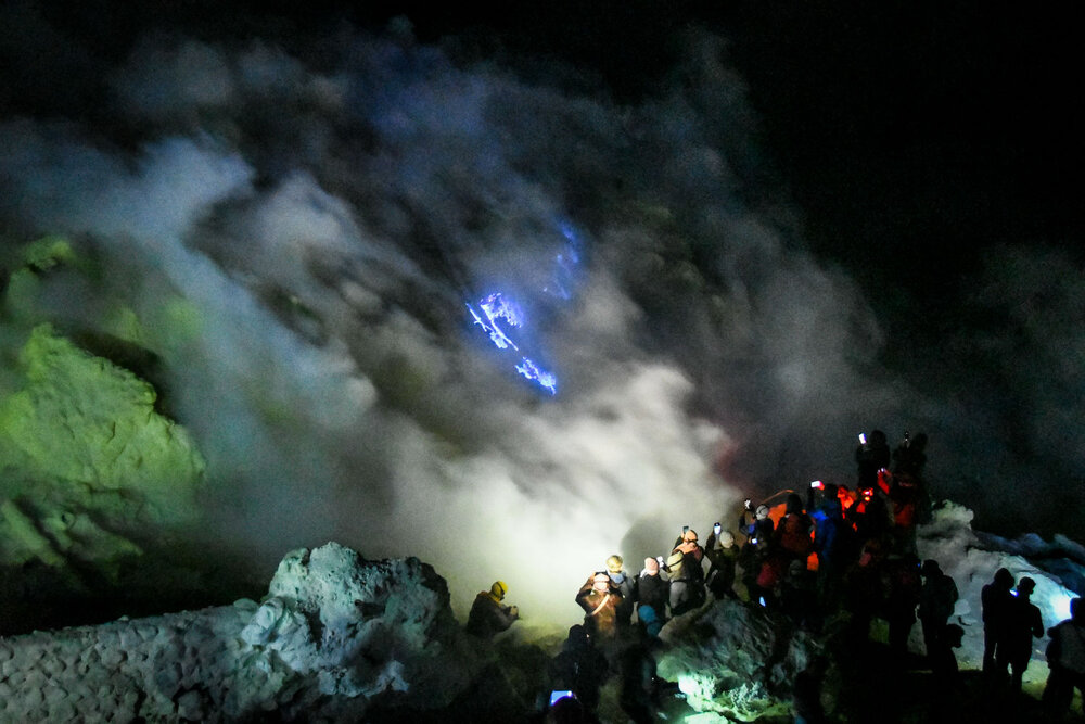 Things to do in Java Ijen Crater Blue Flame