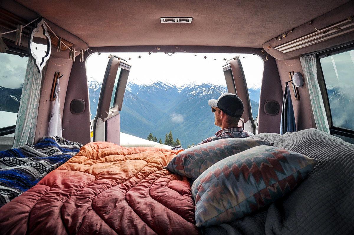 Living in a Van   Campervan at Hurricane Ridge