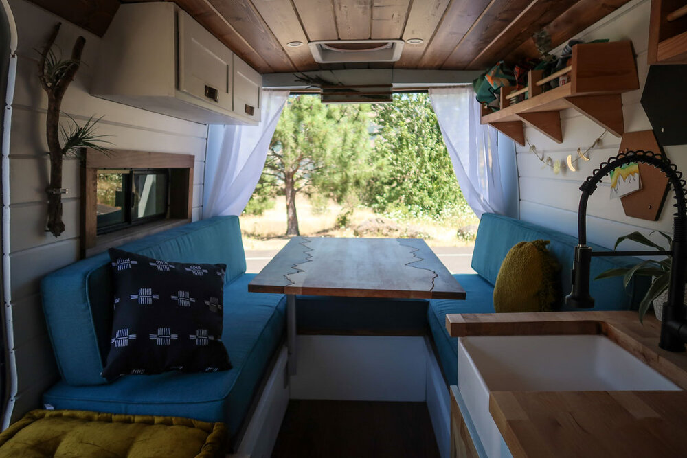 Campervan Cost Benches and Table