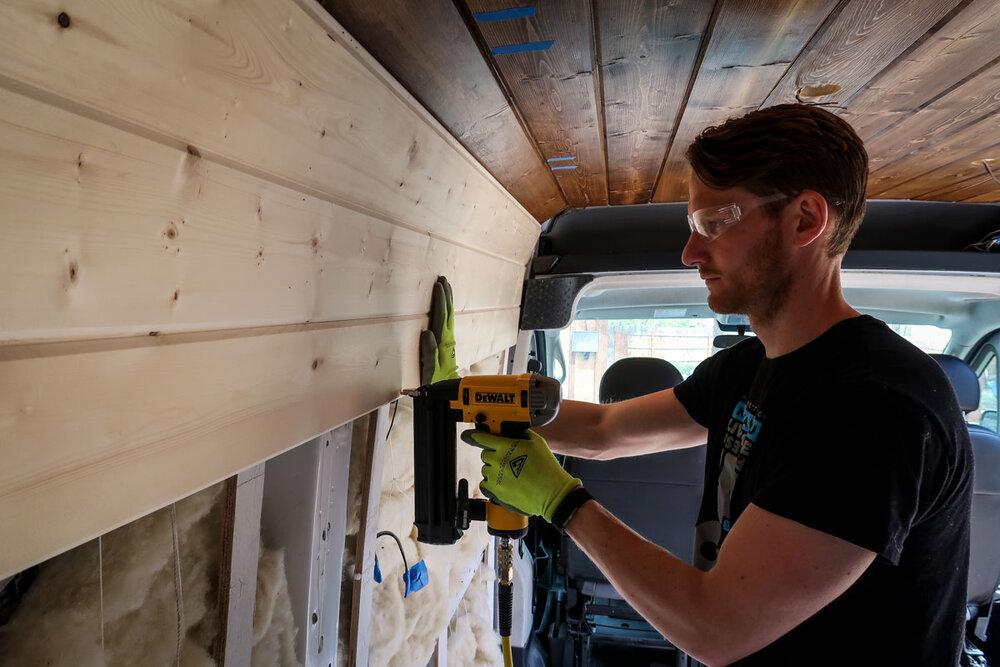 Campervan Costs Nail Gun For Walls Install