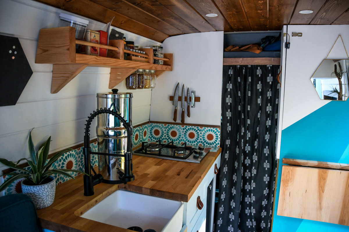 Creative Campervan Kitchen Ideas Two Wandering Soles