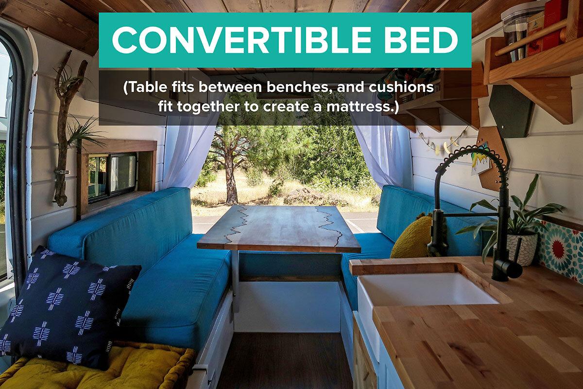 Campervan Bed Ideas Best Designs For Your Van Bed Two Wandering Soles
