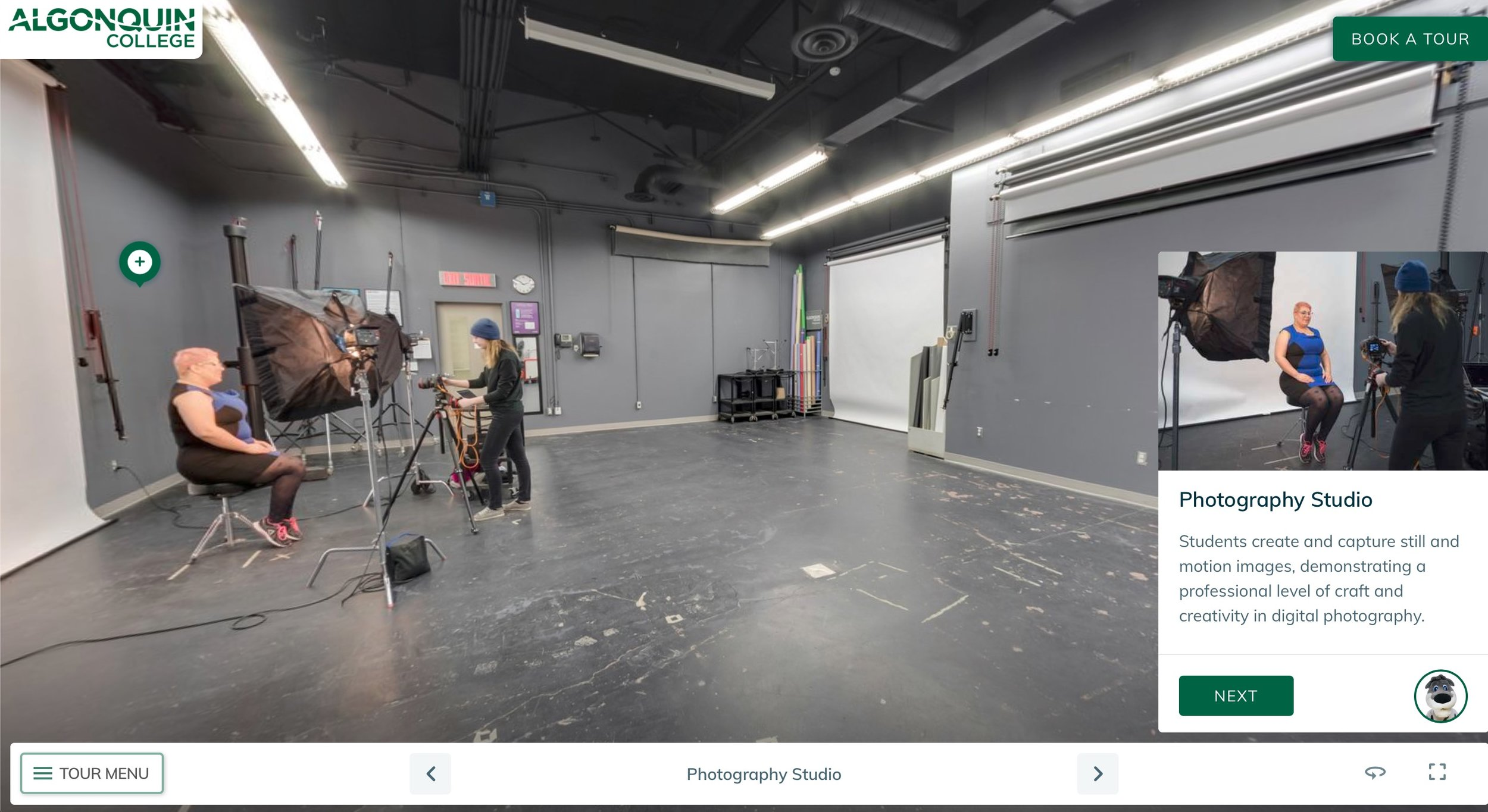 Click Image Above To Take The Photography Program Studio Virtual Tour