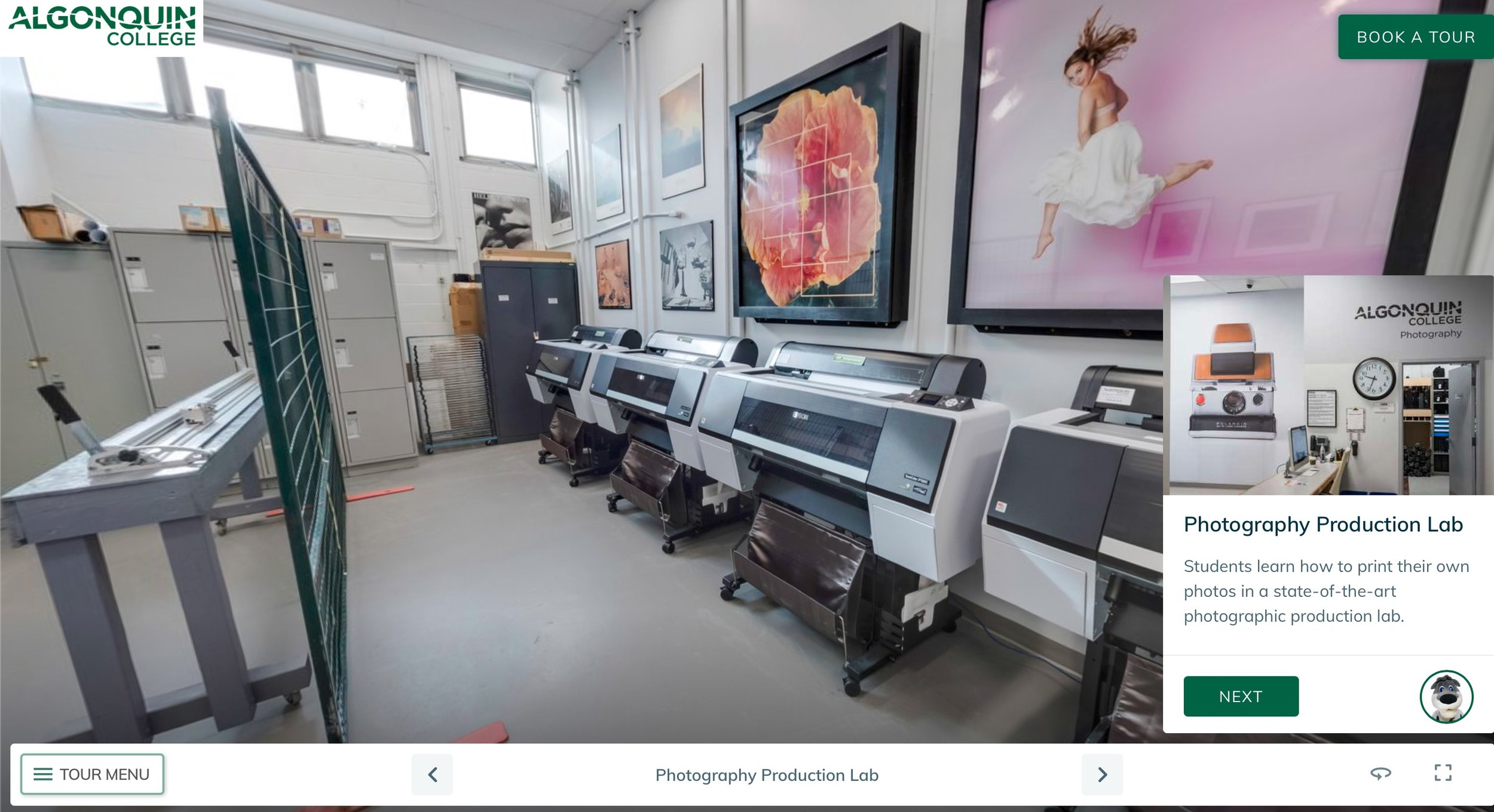 Click Image The Above To Take The Photography Production Lab Virtual Tour